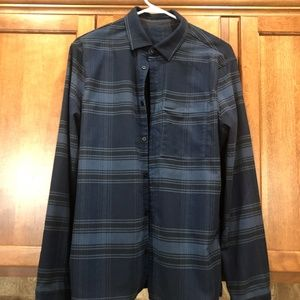 Lululemon Masons Peak Flannel Blue Size M Medium